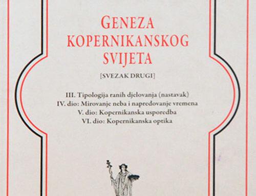 """Promocija knjige """"Geneza kopernikanskog svijeta"""""""