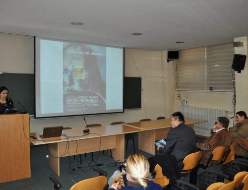 Svečana Akademija u povodu 10 godina od održavanja XXVIII Internacionalnog Hegelovog kongresa